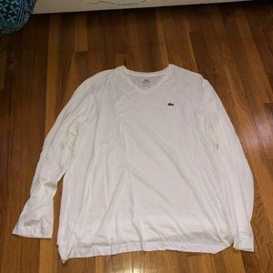 Lacoste thin white long sleeve